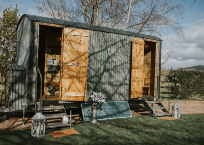 Nomadic Washroom Luxury Toilet and Shower Unit for hire in the UK.
