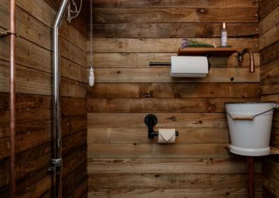 Bathroom of the Nomadic Washrooms luxury shepherd style toilets fro hire.