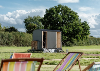 The Little Shepherd Luxury Washroom at Glamping Event in the United Kingdom.