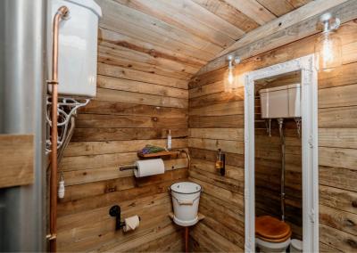 Shepherd style bathroom at Nomadic Washrooms.